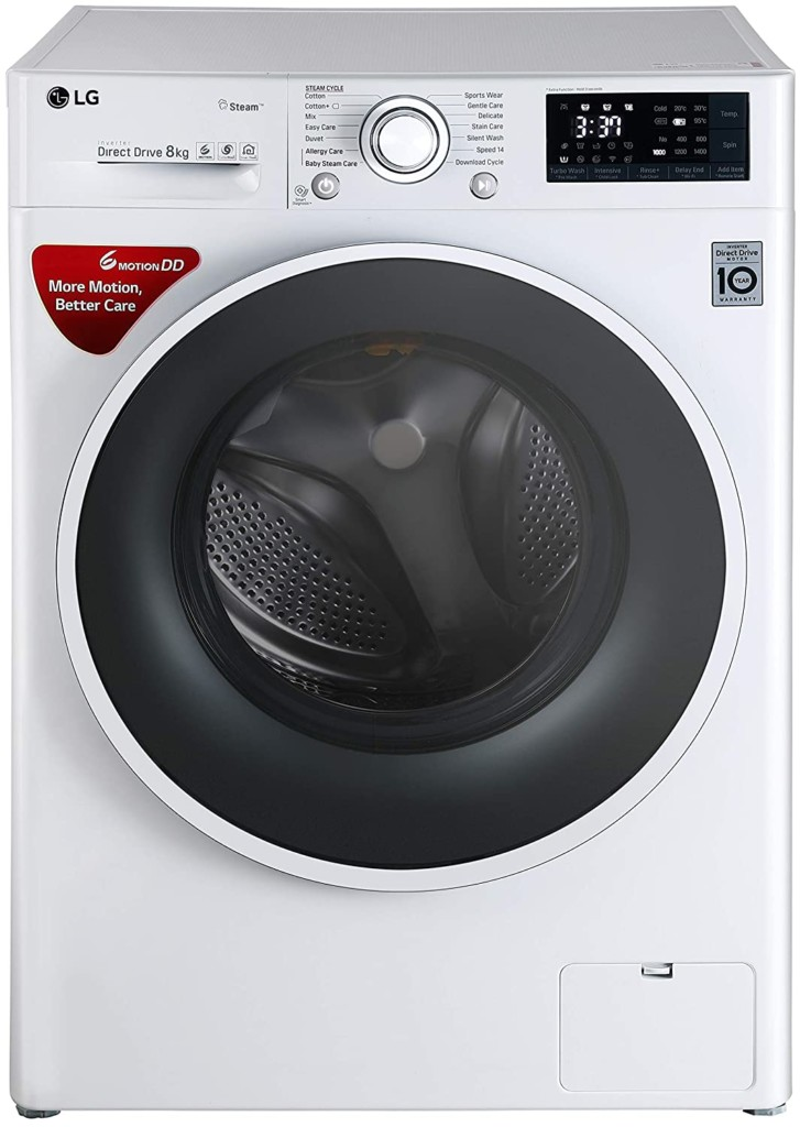 LG 8 kg FHT1208SWW Fully-Automatic Front Loading Washing Machine