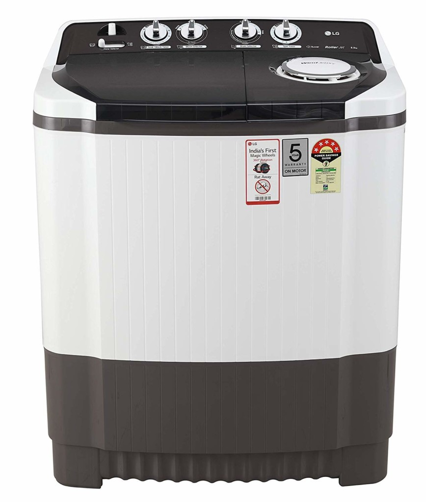 LG 8 Kg P8035SGMZ Semi-Automatic Top Loading Washing Machine