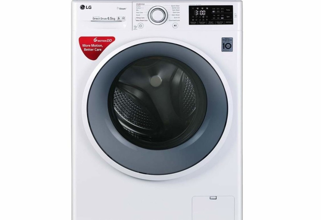 LG6.5kg FHT1065SNW Fully-Automatic Front Loading Washing Machine Full Specifications and Price in India